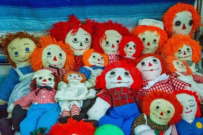 Een paar marionetten of poppen stock afbeelding