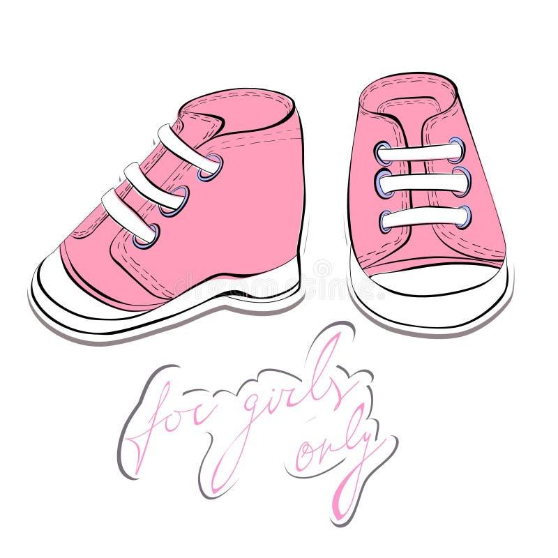 Een paar roze schoenen royalty-vrije illustratie