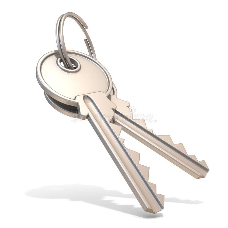 Een paar sleutels van het staalhuis vector illustratie