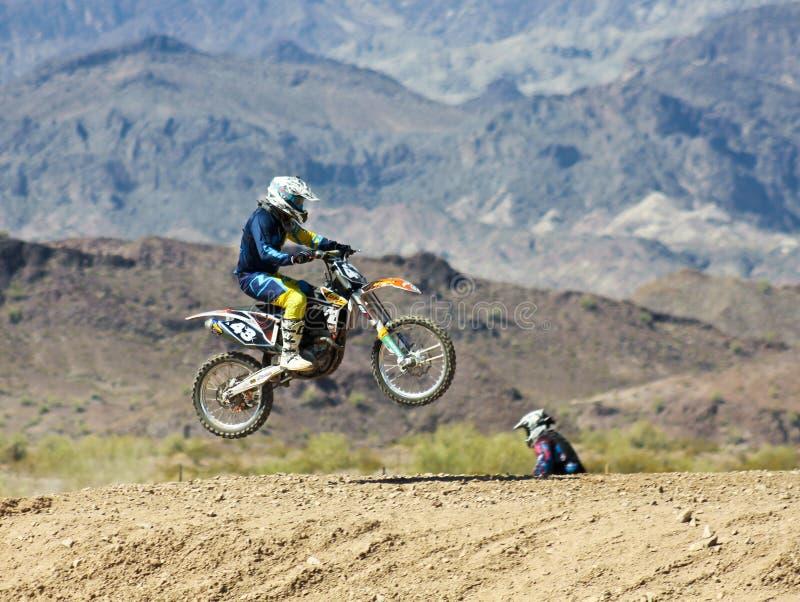 Een Paar van de Praktijk van Motocrossraceauto's in SARA Park royalty-vrije stock afbeeldingen