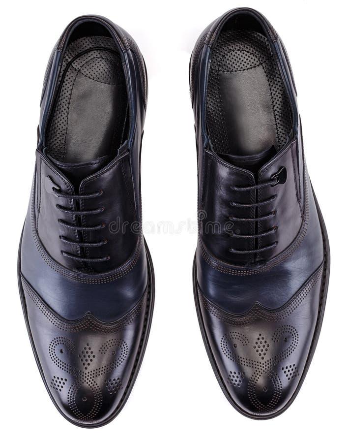 Een paar zwarte schoenen van Oxford van de kleuren klassieke mens royalty-vrije stock afbeelding