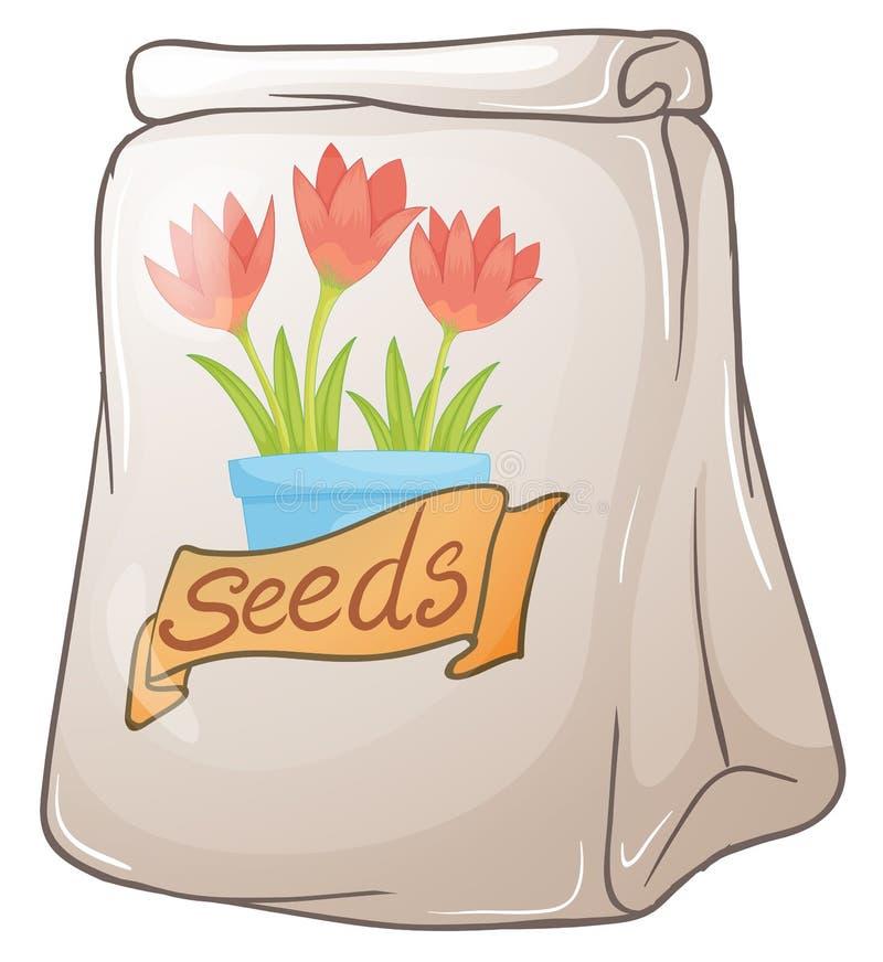 Een pak bloemzaden stock illustratie