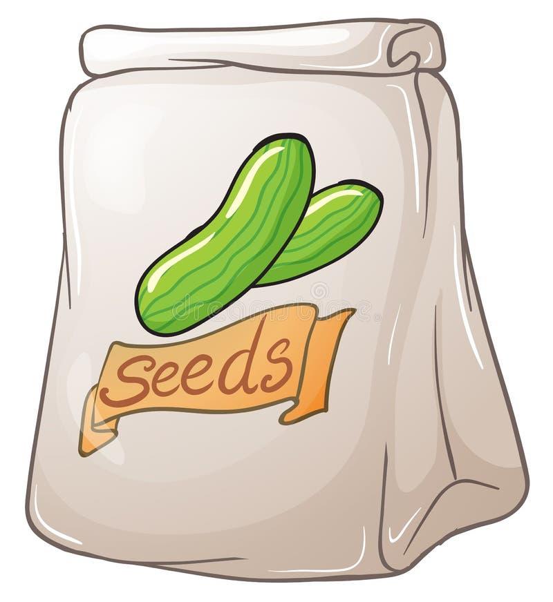 Een pak komkommerzaden stock illustratie