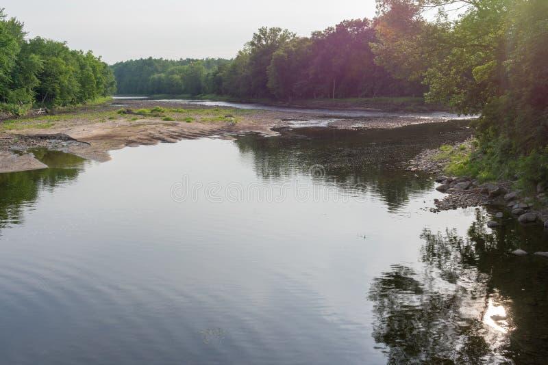 Een panorama van de Ausable-Rivier stock foto