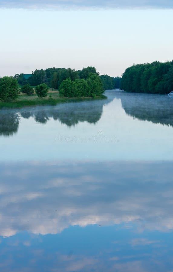 Een panorama van de Grote Chazy-Rivier stock foto