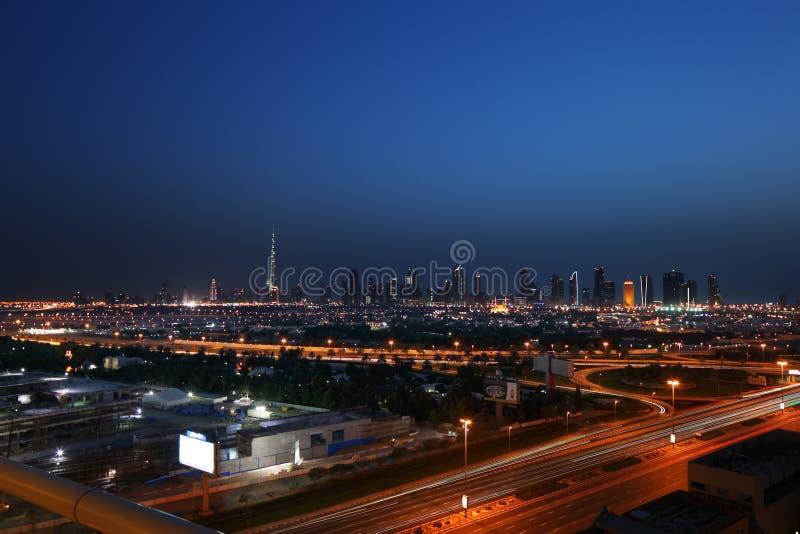 Een panorama van Doubai, Verenigde Arabische Emiraten royalty-vrije stock afbeeldingen