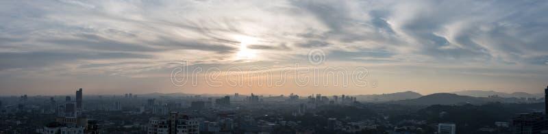Een panorama van het zuidelijke deel van Kuala Lumpur-stad royalty-vrije stock foto's
