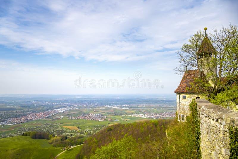 een panorama van Kasteel Teck Germany royalty-vrije stock fotografie