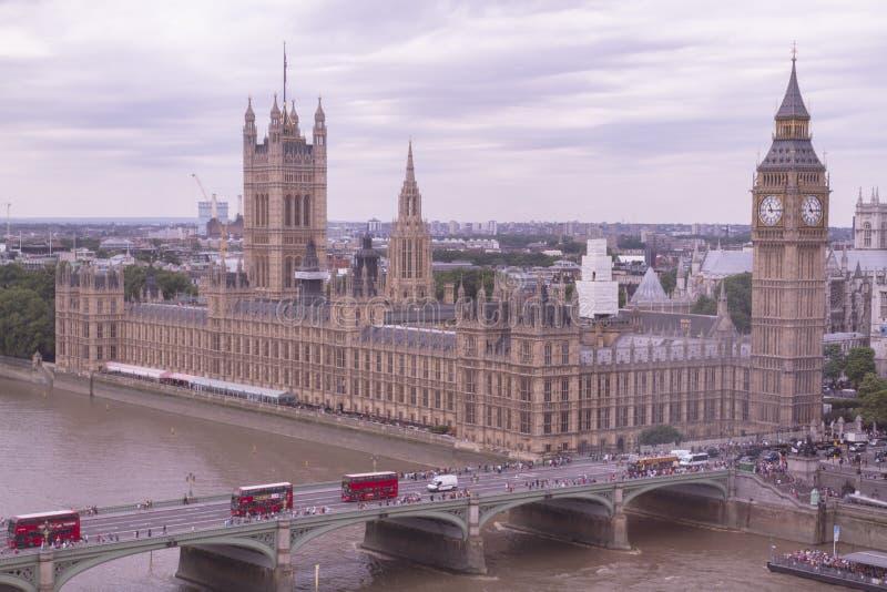Een panorama van Londen stock afbeelding