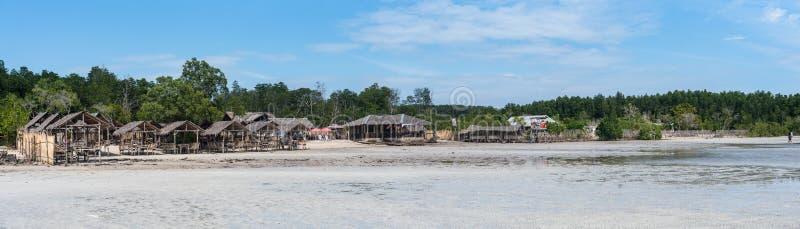 Een panorama van een strand in Filippijnen stock foto's