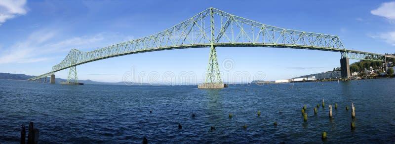 Een panoramamening van de brug Astoria. royalty-vrije stock foto