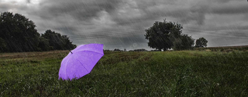 Een paraplu royalty-vrije stock fotografie