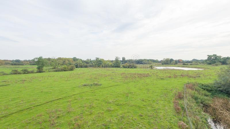 Een park in recent September royalty-vrije stock afbeeldingen