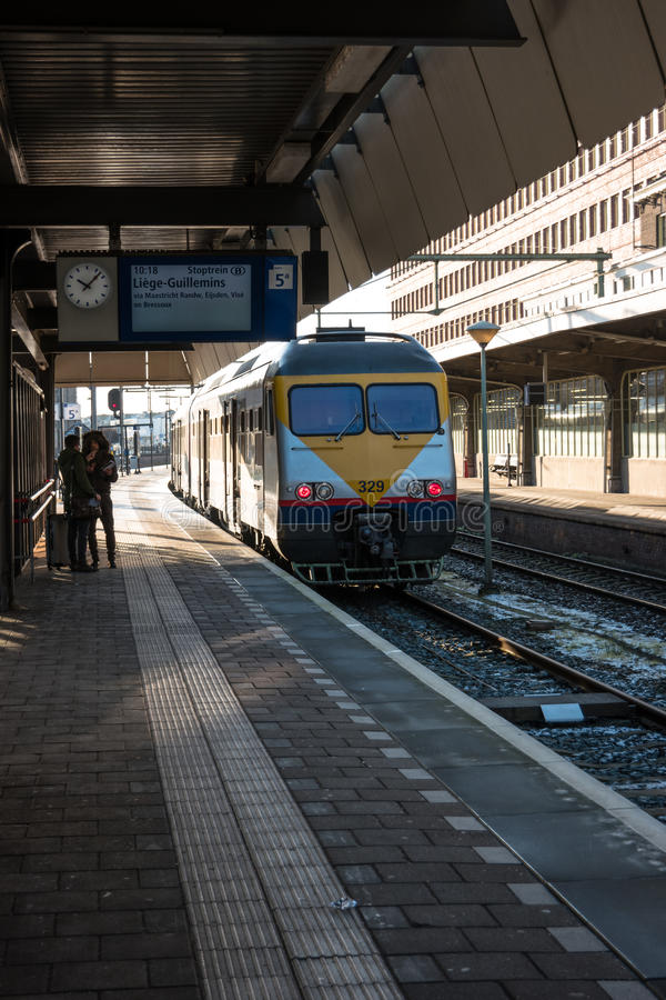 Een passagierstrein stock foto's