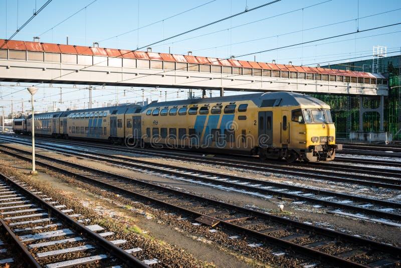 Een passagierstrein royalty-vrije stock foto's