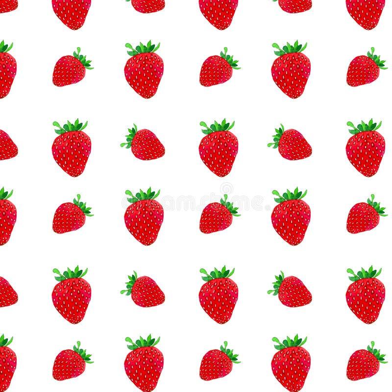 Een patroon van aardbeien royalty-vrije illustratie