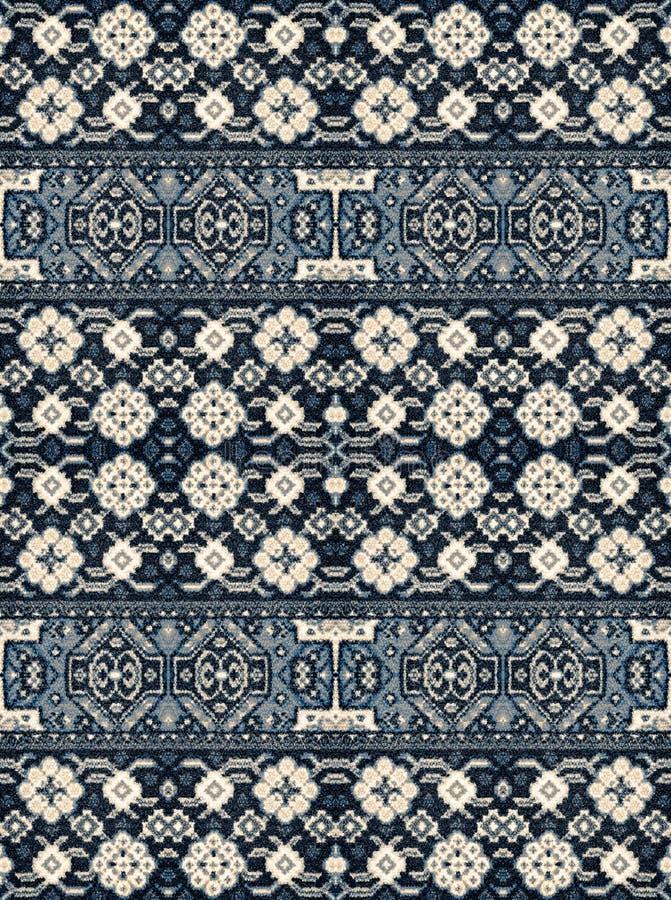 Een patroon van bloemen en geometrische elementen voor tapijt, het vastzetten royalty-vrije stock fotografie