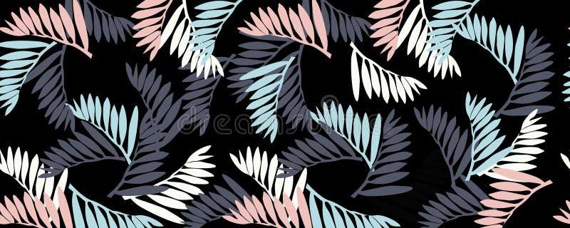 een patroon van tropische bladeren