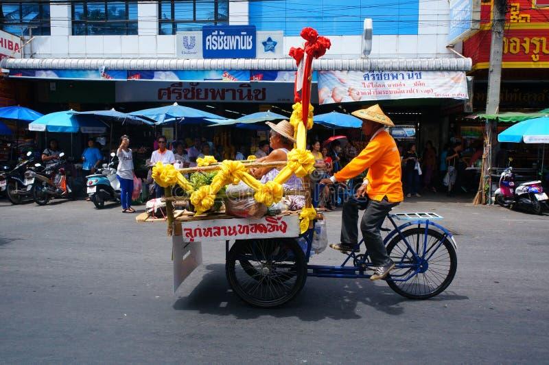 Een pedicab stock foto