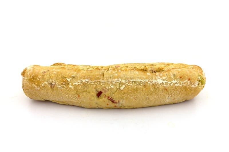 Een pepperonisbaguette stock fotografie