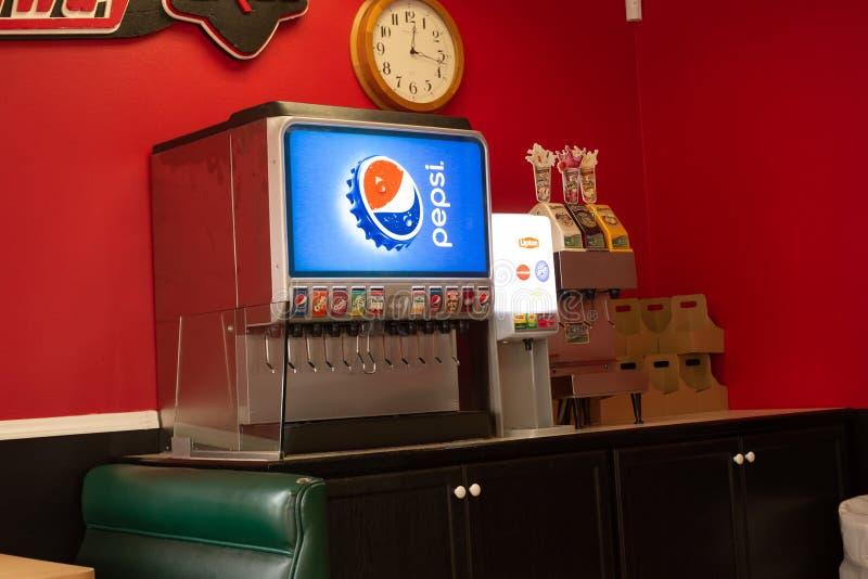 Een Pepsi-Fontein bij een restaurant royalty-vrije stock foto's