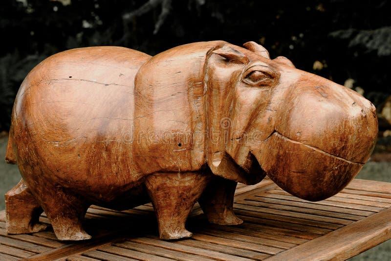 Een perfecte gesneden houten Hippotamus van Simbawe - Nice en zwaar stock afbeeldingen