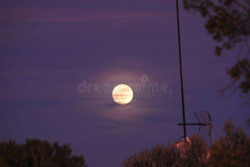 Een perfecte volle maan stock fotografie