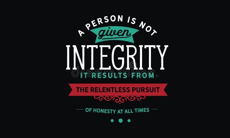 Een persoon wordt gegeven geen integriteit stock illustratie