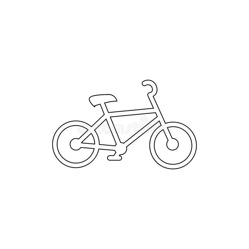 een pictogram van het fietsoverzicht Element van autotype pictogram Grafisch het ontwerppictogram van de premiekwaliteit Tekens e vector illustratie