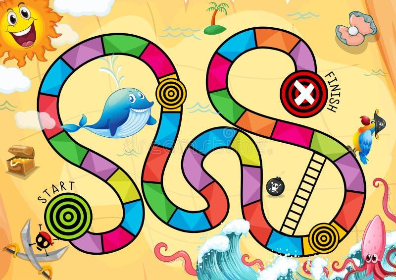 Een piraat boardgame stock illustratie