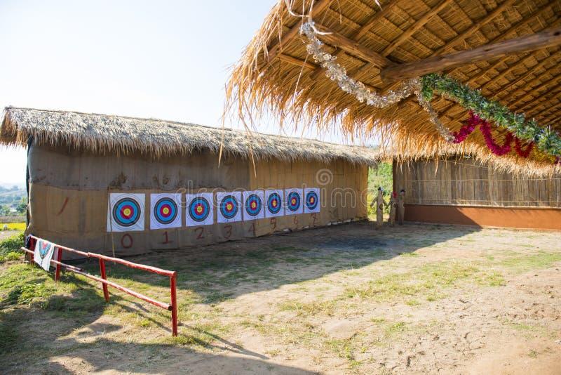 Een plaats voor traditionele boogschietenpraktijk stock afbeeldingen