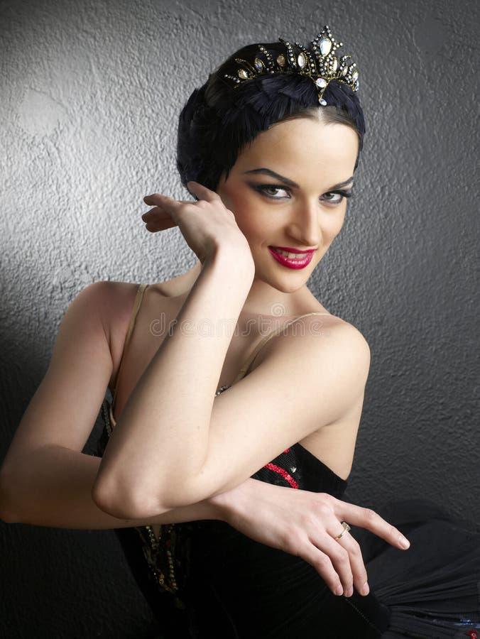 Een portret van een mooie ballerina royalty-vrije stock afbeelding