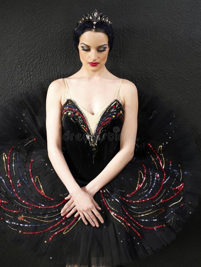 Een portret van een mooie ballerina royalty-vrije stock foto's