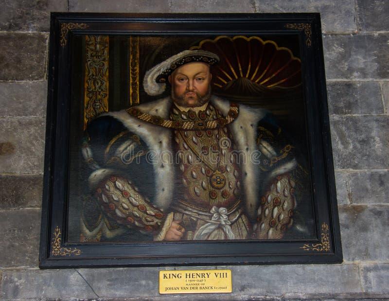 Een Portret van Henry VIII bij het Kasteel van Leeds stock foto