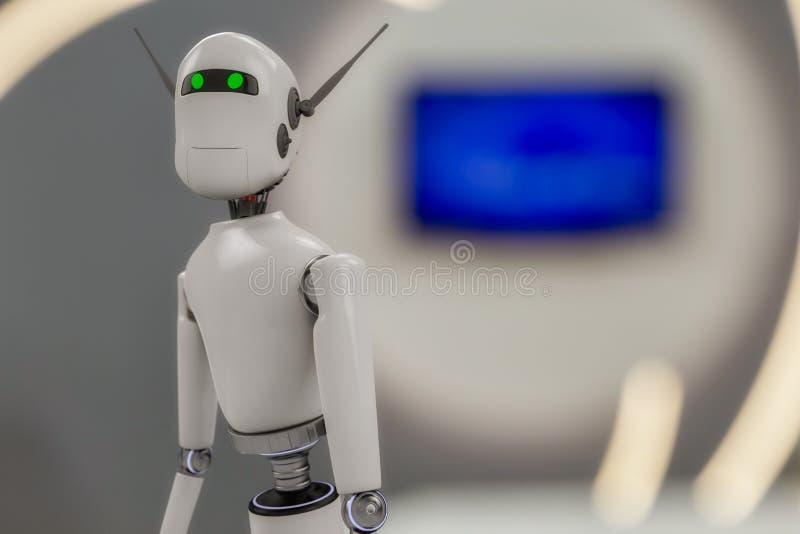 Een portret van een robot royalty-vrije illustratie