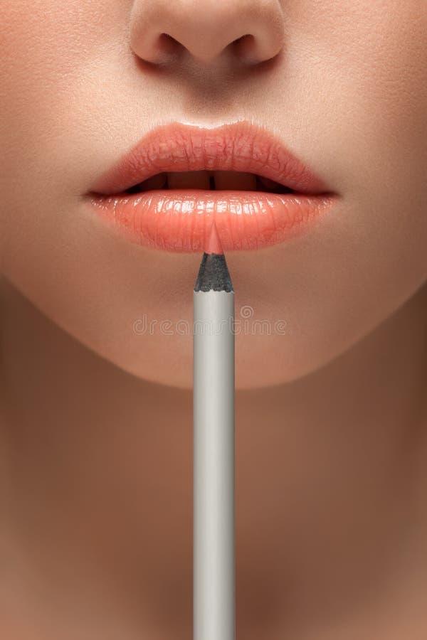In een potlood aan schoonheid. stock foto's