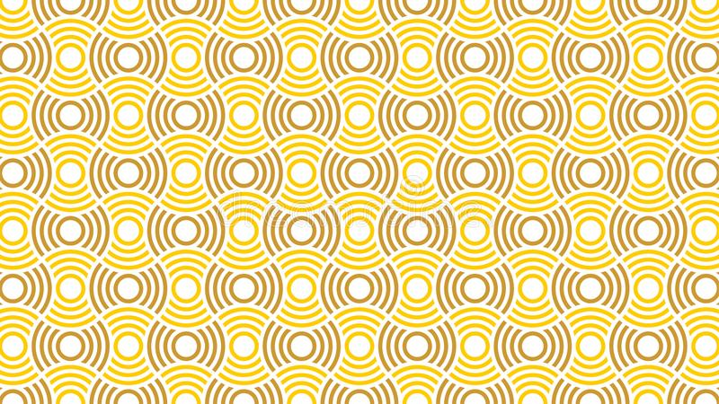 Een prachtige achtergrond voor een groep doorweven en gradiëntcirkels in kleuren tussen wit, geel en gouden, en abstract geom stock illustratie