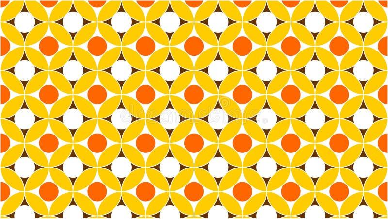 Een prachtige achtergrond voor een groep doorweven en gradiëntcirkels in kleuren tussen wit, geel, oranje en gouden, en een abstr vector illustratie