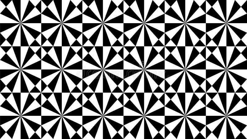 Een prachtige achtergrond voor groep driehoeken en harmonische vierkanten die, mooie kleuren en aantrekkelijke kleuren met wit ov stock illustratie