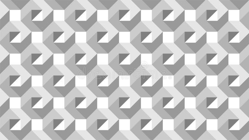 Een prachtige achtergrond voor een hexagonaal-gevormde groep die uit wit en zwart, abstract geometrisch patroon bestaan vector illustratie