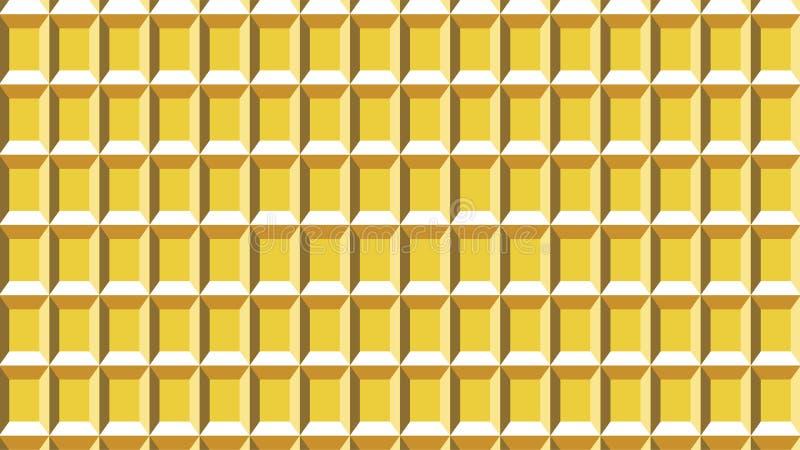 Een prachtige achtergrond voor rechthoeken gaf groep gestalte die uit eensgezind genestelde vierkanten, mooie kleuren en aantrekk stock illustratie
