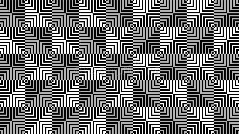 Een prachtige achtergrond voor vierkante gestalte gegeven groep die uit eensgezind genestelde vierkanten, mooie kleuren en aantre stock illustratie