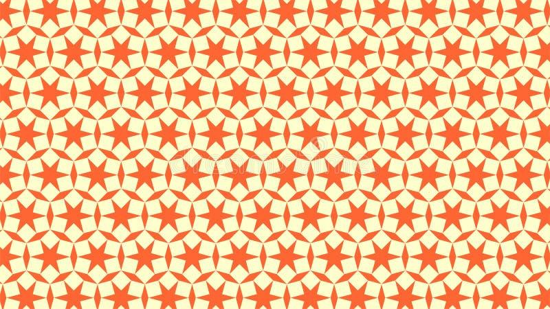 Een prachtige die achtergrond voor een groep vierkanten in de vorm van cirkels en de kleuren worden verpakt gebruikte wit en oran royalty-vrije illustratie