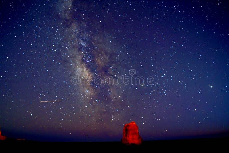 Een Prachtige Melkwegvertoning over het Strand van Davenport royalty-vrije stock foto