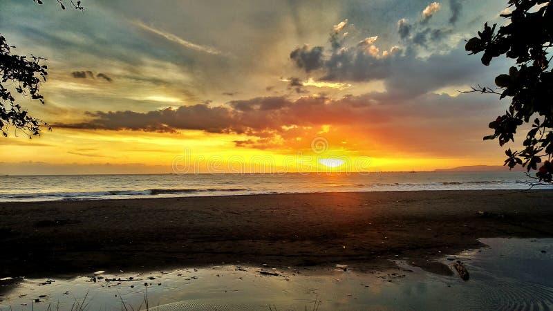 Een prachtige plaats om op zonsondergang te wachten royalty-vrije stock foto's