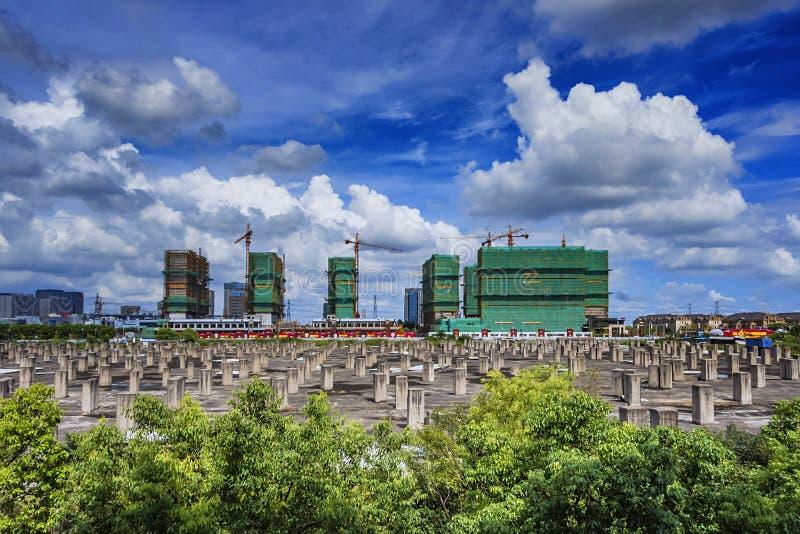 Een project in aanbouw in Shanghai royalty-vrije stock afbeelding