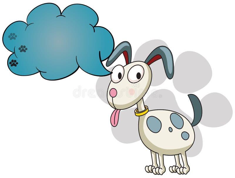 Een puppy met een lege callout royalty-vrije illustratie