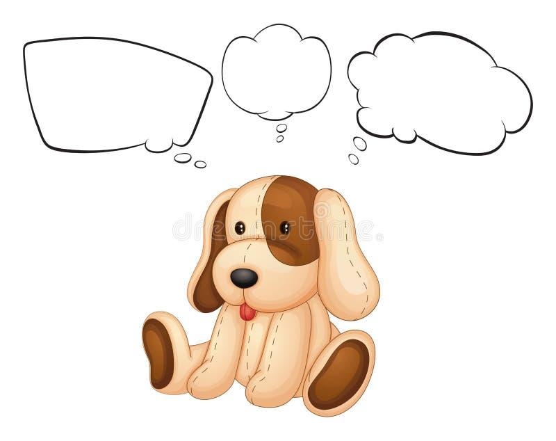 Een puppy met lege gedachten royalty-vrije illustratie