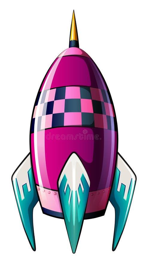 Een raket met een gericht uiteinde stock illustratie
