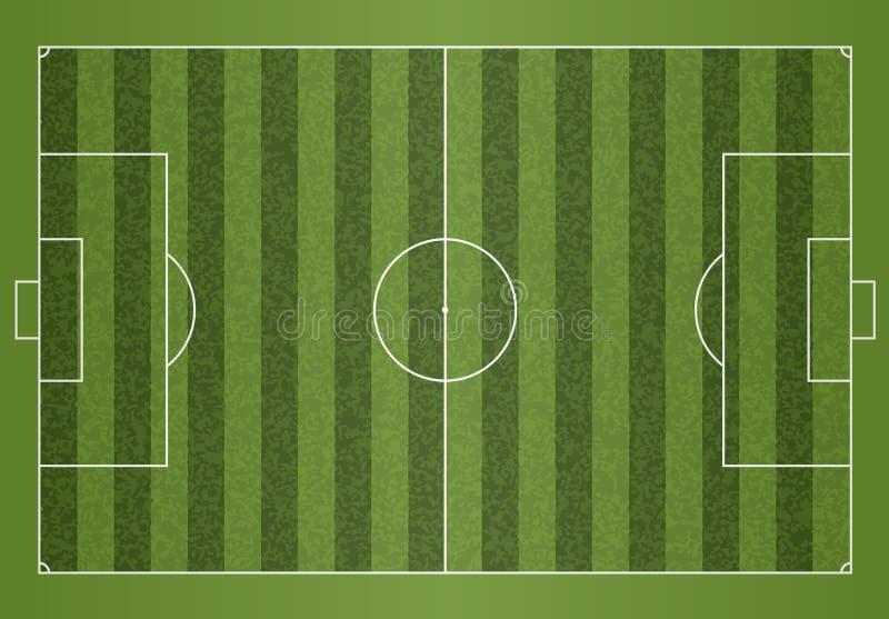 Een realistisch geweven het voetbalgebied van de grasvoetbal Het dossier bevat transparantie vector illustratie